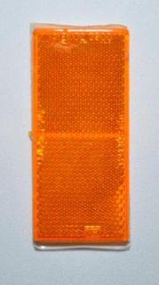REFL-RECT 100mm x 45mm STICK ON AMBER