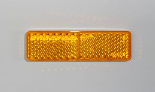 REFL-RECT 20mm x 70mm STICK ON AMBER