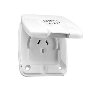 CLIPSAL 10DWP 10AMP POWER OUTLET WHITE