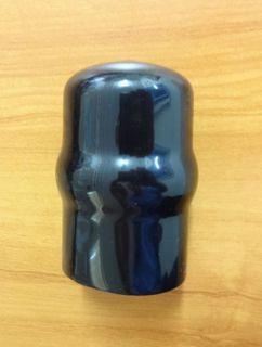 TOW BALL COVER BLACK PVC