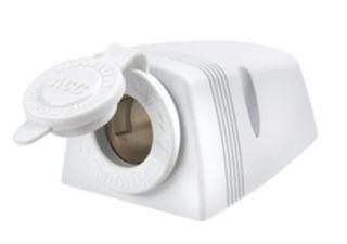 12 VOLT EXTERNAL SOCKET - WHITE 81025W