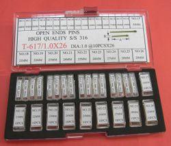KIT .9MM OPEN END PINS 4-29MM (260PCS)