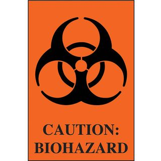 Caution-Biohazard Labels (100)