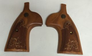 K&L Grip Rosewood Checkered Engraved