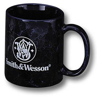 S&W Blue Marbled Mug - S&W Logo