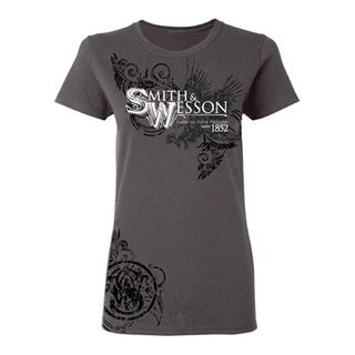 S&W Womens Char Eagle Filigree Tee- Med