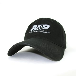 M&P Mens Black Structured Logo Cap/Hat