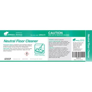 GREEN RHINO® NEUTRAL FLOOR CLEANER HALF LABEL