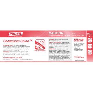 HALF LABEL FOR SHOWROOM SHINE