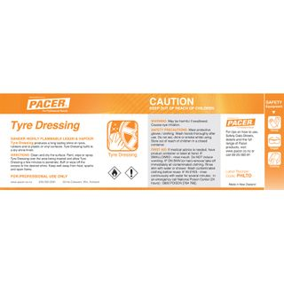 HALF LABEL FOR TYRE DRESSING