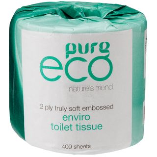 PUREECO TOILET TISSUE 2PLY 400SHEET(48ROLL)