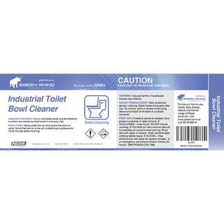 GREEN RHINO® TOILET BOWL CLEANER HALF LABEL