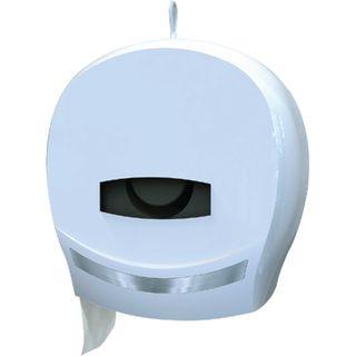 JUMBO TOILET ROLL DISPENSER SINGLE WHITE