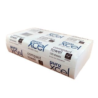 PUREXCEL COMPACT HAND TOWEL 120SHEETS (20PACK)