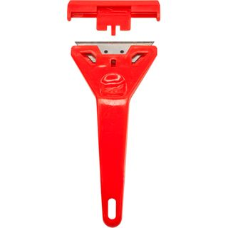 "RED PLASTIC SCRAPER 4"""