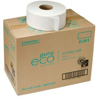 PUREECO JUMBO TOILET ROLLS 1PLY 500M (8ROLL)