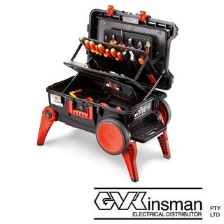 XXL3 ELECTRICIANS ROLLING TOOL CASE W. 100 TOOLS