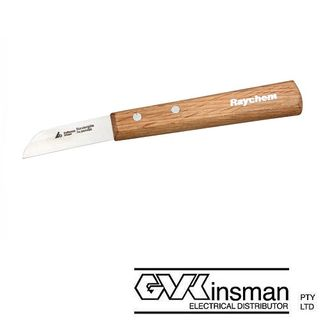 WOODEN HANDLE (EDGE WEDGE) CABLE JOINTER KNIFE