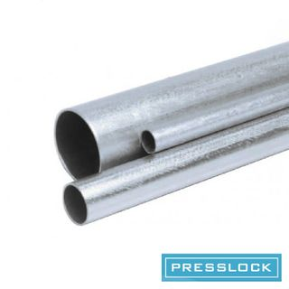 THREADLESS STEEL CONDUIT, 20MM X 4M, ZINC PLATED, PLAIN ENDS