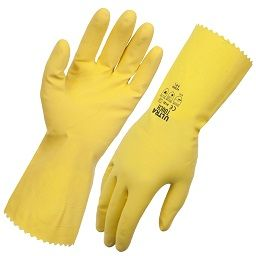 Glove Flocklined UltraTouch Yellow 9-9.5 (12inpack)