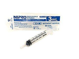 Syringe 3ml Luer Slip Nipro 100