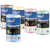 Wipe Contractor Oates YELLOW  Roll 90
