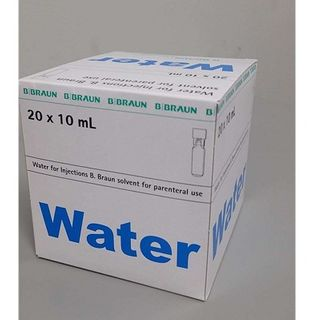 Water for Injection B.Braun 10ml Amp 20