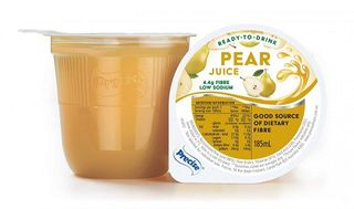 Precise Unthickened Pear Juice Cup 185ml 24