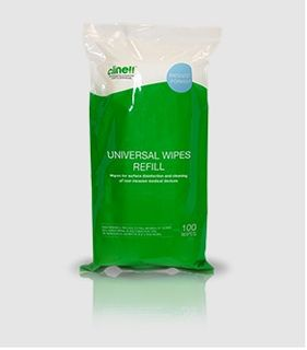 Wipe Clinell Disinfectant  REFILL 100 Green