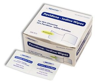 Wipe Povidone Iodine Antiseptic 200