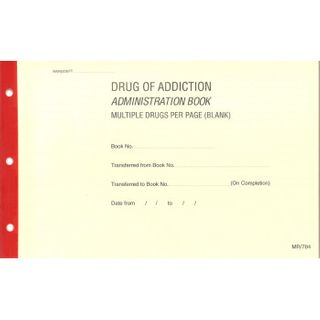 Drug of Addiction Multi Blank Book MR784