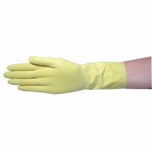 Gloves Flocklined YELLOW Med 12pr