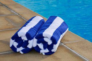 Jubilee Pool Towel Stripe Blue/White