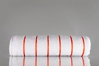 Pin Stripe Pool Towel Orange