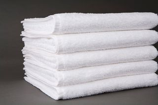 Shuttleless Bath Towel White