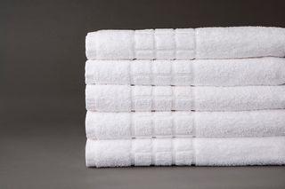 Tiles Bath Towel White