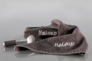 Face Cloth CHARCOAL Embroidered Makeup