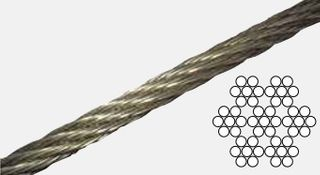 3.2mm 7 x 7 Wire Rope S/S  316Gr 305mtr