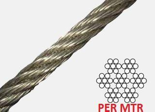 4mm    7 x 7 Wire Rope S/Steel 316Gr Cut