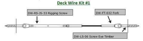 Deck Wire - Pre Swaged Kit 1