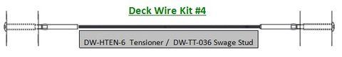 Deck Wire - Pre Swaged Kit 4