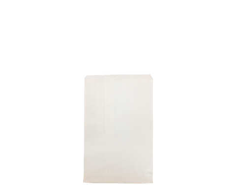 2 Long White Paper Bags 240mm(L) x 180mm(W) - Pack of 500