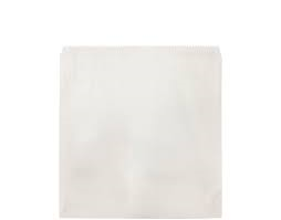 2 Square White Paper Greaseproof Lined Bags 215mm(L) x 200mm(W) - Pack of 500