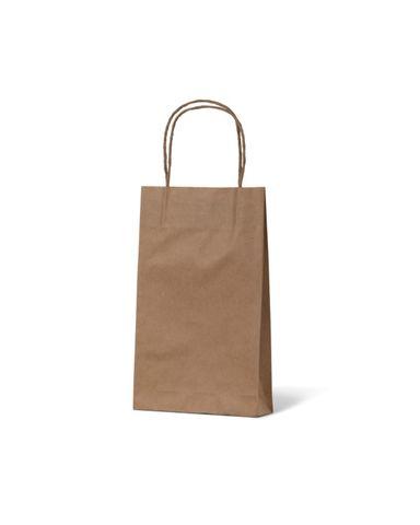 Baby Brown Loop Handle Paper Carry Bags 265mm(L) x 160mm(W) + 70mm(G) - EACH =1 / BOX=500