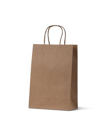 Junior Brown Loop Handle Paper Carry Bags 290mm(L) x 200mm(W) + 100mm(G) - EACH =1 / BOX=250