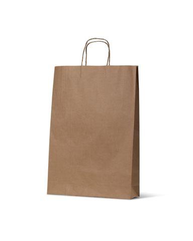 Medium Brown Loop Handle Paper Carry Bags 480mm(L) x 340mm(W) + 110mm(G) - EACH=1 / BOX=250