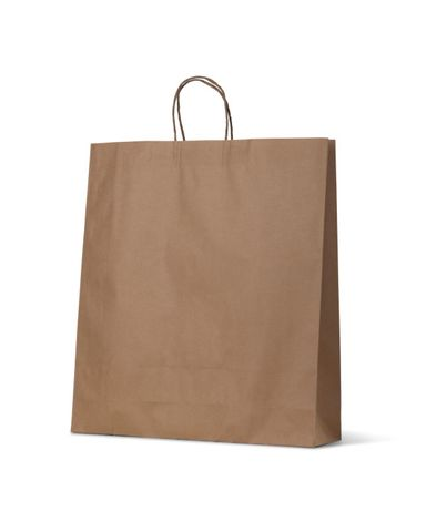 Large Brown Loop Handle Paper Carry Bags 500mm(L) x 450mm(W) + 120mm(G) - EACH=1 / BOX=250