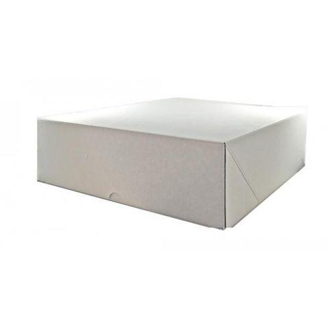 "White Pastry / Cake Box 12"" x 12"" x 4"" / 300mm(L) x 300mm(W) x 100mm(H) - Packet of 50"