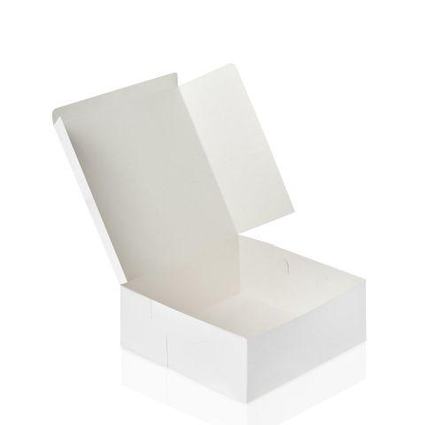 "White Pastry / Cake Box 18"" x 18"" x 6"" / 450mm(L) x 450mm(W) x 150mm(H) - Packet of 25"