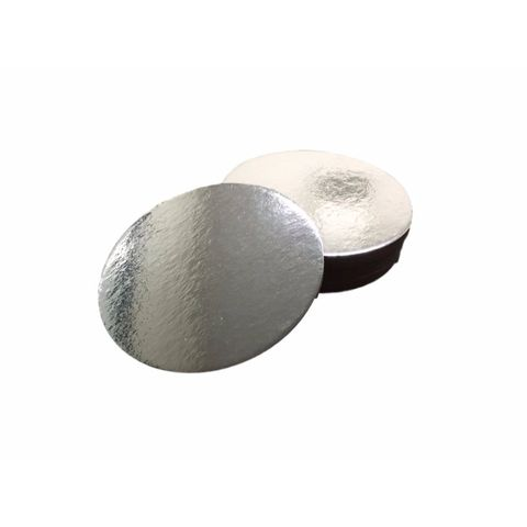 No. 7 Silver Cake Base Circle 180mm Diameter - Packet of 50
